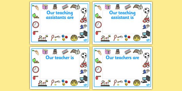 Editable Classroom Teacher/TA/NN Signs (Design 2) - Classroom sign, welcome, teacher, teaching assistant, welcome sign, door sign, class sign, KS1 sign,  Editable sign, class door sign