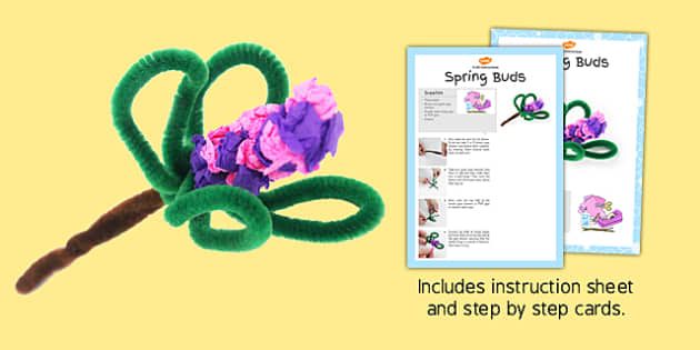 Spring Buds Craft Instructions - spring, buds, craft, instruction