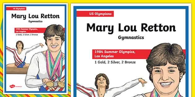 US Olympians Mary Lou Retton Poster - usa, america, olympics, olympians, poster