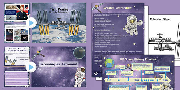 Tim Peake British Astronaut Resource Pack - International Space station, tim peake, british, astronaut, resource pack, pack