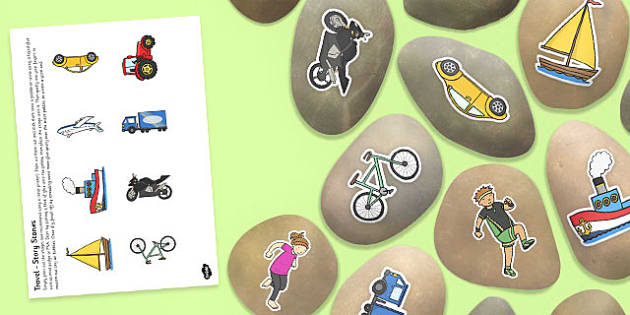 Travelling Story Stone Cut Outs - story stones, stone art, painted rocks, story telling, eyfs activities, early years activities