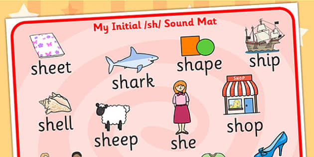 sh Sound Mat - sh, sh sound, sounds, sound mat, visual aid
