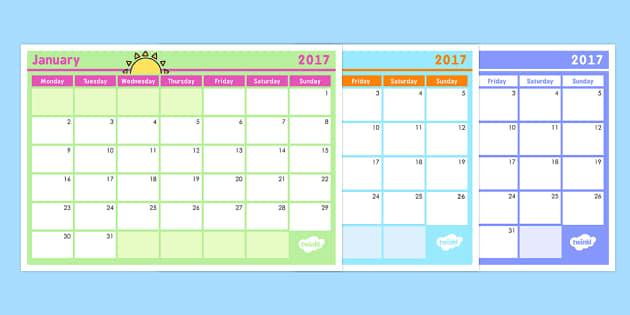 Monthly Calendar Planning Template 2017 - australia, monthly, calendar, planning, template, 2016