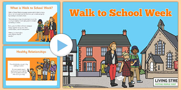 Walk to School Week PowerPoint - walk, school, week, powerpoint