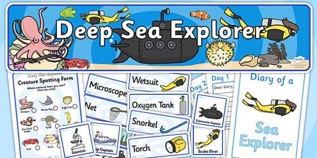 Deep Sea Explorer Role Play Pack-deep sea explorer, deep sea, role play, role play pack, explorer pack, deep sea explorer role play, games