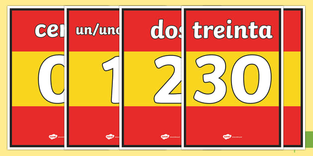 Basic Spanish Numbers 0-31 Display Posters - spanish, basic, numbers, 0-31, display posters, display, posters