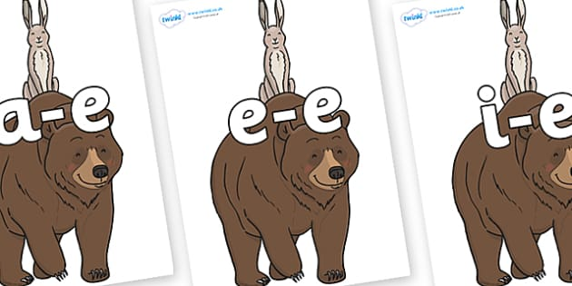 Modifying E Letters on Bear and the Hare - Modifying E, letters, modify, Phase 5, Phase five, alternative spellings for phonemes, DfES letters and Sounds