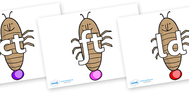 Final Letter Blends on Glowworm to Support Teaching on James and the Giant Peach - Final Letters, final letter, letter blend, letter blends, consonant, consonants, digraph, trigraph, literacy, alphabet, letters, foundation stage literacy