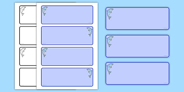 Dolphin Themed Drawer Peg Name Labels (Colourful) - Themed Classroom Label Templates, Resource Labels, Name Labels, Editable Labels, Drawer Labels, Coat Peg Labels, Peg Label, KS1 Labels, Foundation Labels, Foundation Stage Labels, Teaching