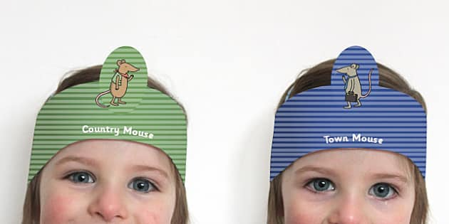The Town Mouse and The Country Mouse Role Play Headbands - story