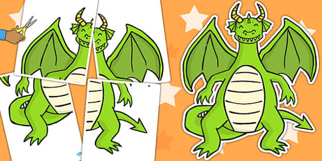 A2 Dragon Cut Out - dragons, activity, skills, motor, activities