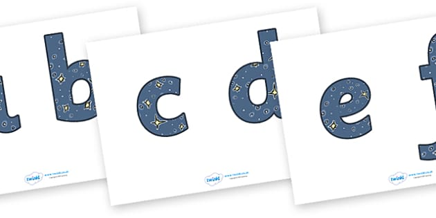 Display Lettering & Symbols (Space) - Display lettering, display letters, alphabet display, letters to cut out, letters for displays, coloured letters, coloured display, coloured alphabet, moon, sun, earth, mars, ship, rocket, alien, launch, stars, p