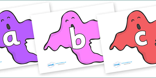 Phoneme Set on Ghosts (Multicolour) - Phoneme set, phonemes, phoneme, Letters and Sounds, DfES, display, Phase 1, Phase 2, Phase 3, Phase 5, Foundation, Literacy