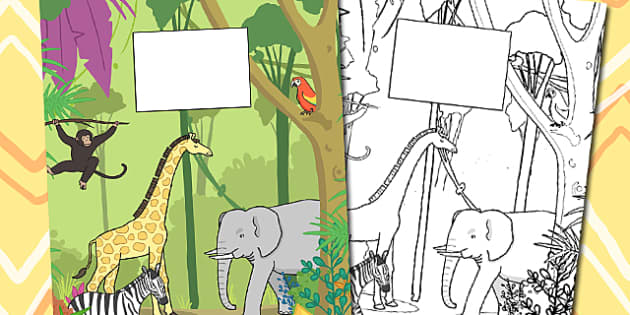 Jungle Themed Calendar Template - calendar, jungle, template