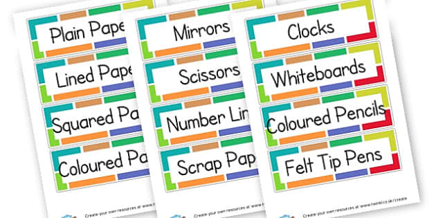 Resource trays labels - Resource Labels Primary Resources, resource, label, drawer labels