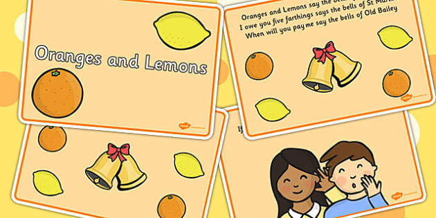 Oranges and Lemons Sequencing - Oranges, lemons, Fruit