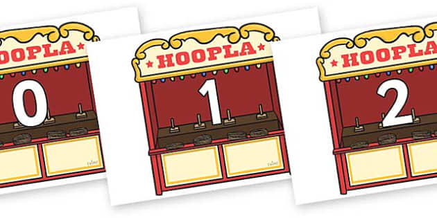 Numbers 0-50 on Hoopla Stands - 0-50, foundation stage numeracy, Number recognition, Number flashcards, counting, number frieze, Display numbers, number posters