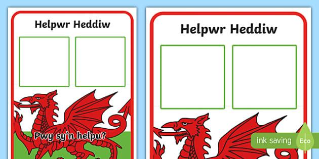 Helpwr Heddiw Display Poster-Welsh