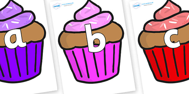 Phoneme Set on Cupcakes - Phoneme set, phonemes, phoneme, Letters and Sounds, DfES, display, Phase 1, Phase 2, Phase 3, Phase 5, Foundation, Literacy