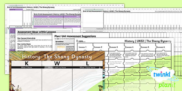 PlanIt - History UKS2 - The Shang Dynasty Unit Assessment Pack - planit, history, uks2, the shang dynasty, assessment pack