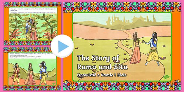The Story of Rama and Sita PowerPoint English/Polish