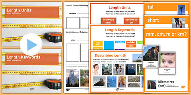 Maths Intervention Length Units and Keywords Pack - SEN, special needs, intervention, maths, measure, length