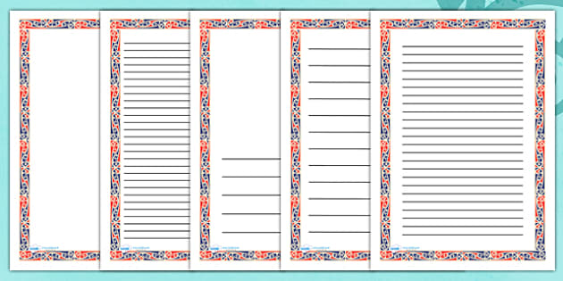 Maori Art Page Borders - Maori Art Display Banner, Maori, Marori Art, Art, page border, border, writing template, writing aid, writing, drawing, Japan, Japanese