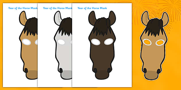 Chinese New Year of the Horse Mask - chinese new year, role play