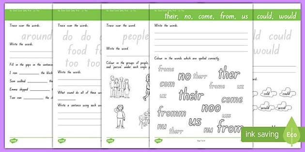New Zealand Essential Spelling List 4 Activity Sheets, worksheet
