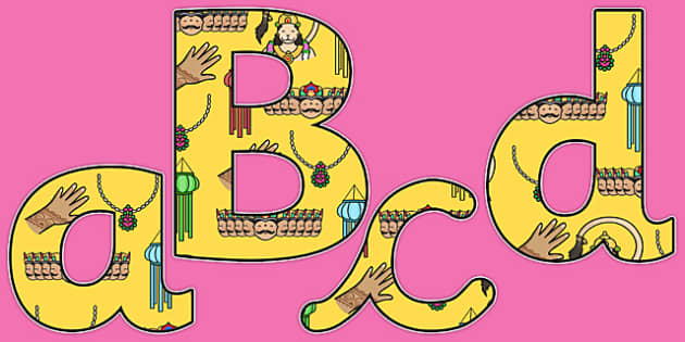 Diwali Themed A4 Display Lettering-diwali, themed, A4, display, lettering, display lettering, diwali lettering, diwali display, A4 letters, RE, divali, divalli