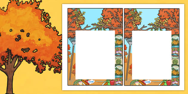 Autumn Editable Notes to Teacher - praise notes, teacher notes