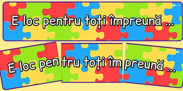 Incapem cu Totii Impreuna - banner, egalitate, suntem diferiti , Romanian