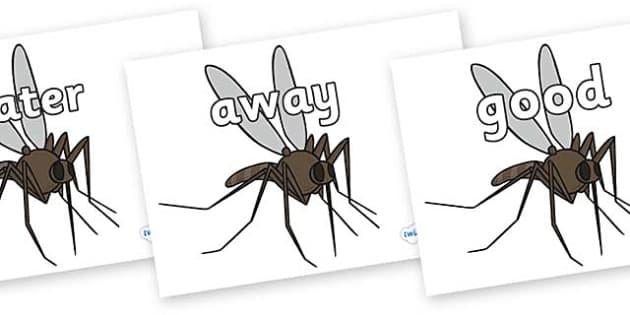 Next 200 Common Words on Mosquitos - Next 200 Common Words on  - DfES Letters and Sounds, Letters and Sounds, Letters and sounds words, Common words, 200 common words