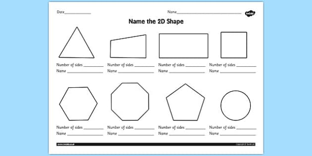 Shapes Worksheet 2d shapes worksheet ks1 2d shape 2d – 2d Shapes Worksheet