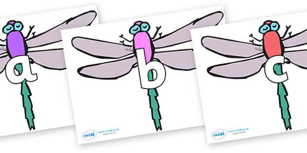 Phoneme Set on Dragonflies - Phoneme set, phonemes, phoneme, Letters and Sounds, DfES, display, Phase 1, Phase 2, Phase 3, Phase 5, Foundation, Literacy