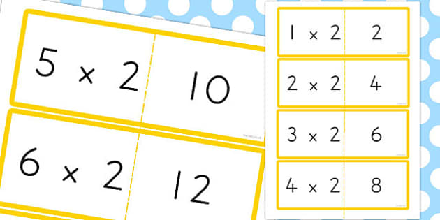 2 Times Table Cards - australia, times table, times tables, cards, 2, times