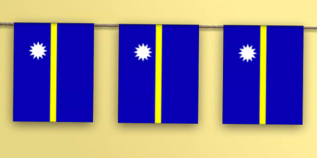 Nauru Flag Display Bunting - countries, geography, display, flag