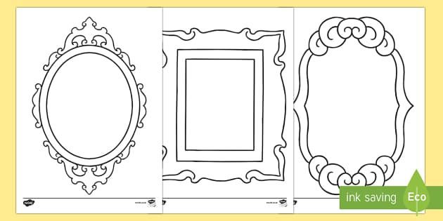 Doodle Draft Fancy Picture Frames Activity Sheet-Irish - ROI, Ireland, doodle, draft, sketch, starter, creative, drawing, art, activity sheet,Irish, workshee
