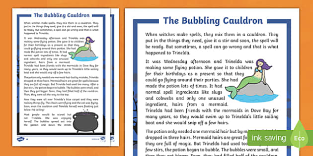 The Bubbling Cauldron Differentiated Halloween Spooky Story
