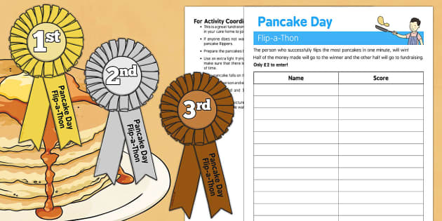 Pancake Day Flip a Thon - Elderly, Reminiscence, Care Homes, Pancake Day