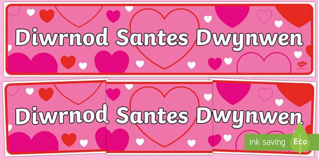 Baner Arddangosfa Diwrnod Santes Dwynwen - Saint Dwynwen - 25th January - Welsh Medium and Welsh Language teaching,Welsh, dydd , ddydd, ddiwrnod