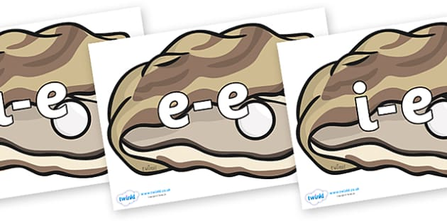 Modifying E Letters on Oysters - Modifying E, letters, modify, Phase 5, Phase five, alternative spellings for phonemes, DfES letters and Sounds