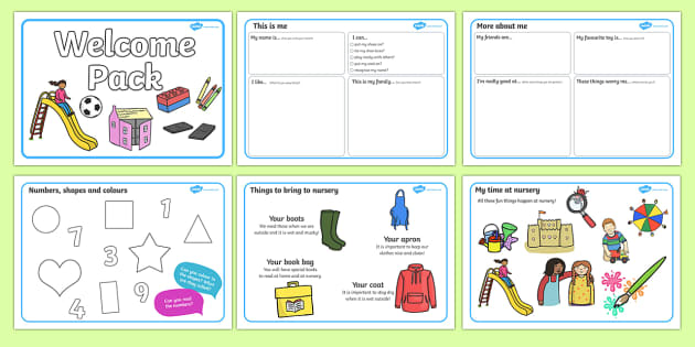 Nursery/Pre-School Welcome Pack - Pre-school, back to school, welcome pack, welcome, starting school, all about me, about me, starting nursery, starting KS1, kindergarten