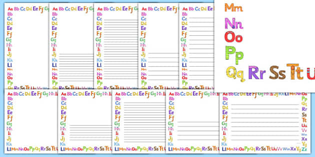 Monster Alphabet Page Borders - monster alphabet, monster, alphabet, page borders, page, borders