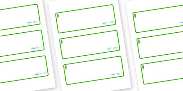 Poplar Tree Themed Editable Drawer-Peg-Name Labels (Blank) - Themed Classroom Label Templates, Resource Labels, Name Labels, Editable Labels, Drawer Labels, Coat Peg Labels, Peg Label, KS1 Labels, Foundation Labels, Foundation Stage Labels, Teaching
