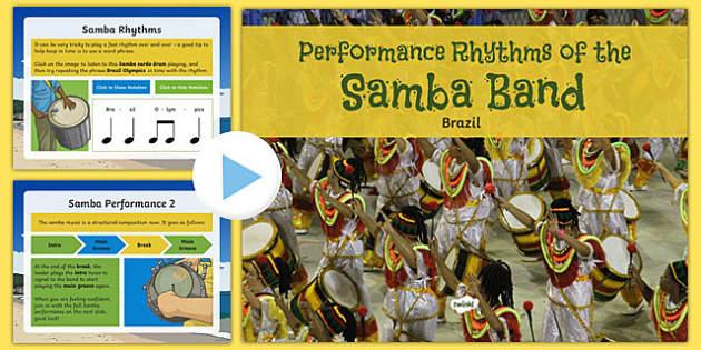 Samba Band Performance Rhythms PowerPoint