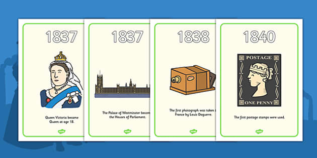 Victorians Timeline Display Posters - Victorians, Queen Victoria, 19th century, British History, timeline, line, event, Britain, Victorian toys, Victorian school, butler