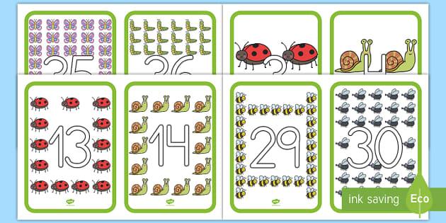 Números de exposición: Bichos - Bichos, insectos, recta, numérica, números