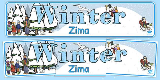 Winter Display Banner Polish Translation - polish, winter, display banner, display, banner