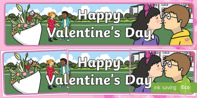 Happy Valentine's Day Banner - Valentine's, valentine's day, display, banner